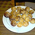 Petits choux jambon-fromage