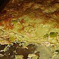 Lasagnes poireaux-saumon.