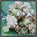 Crumble de courgettes/poulet/chèvre