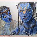 Neytiri & Jake Sully. <b>AVATAR</b> (wip)