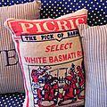 Coussin sac de riz Au pays des Cactus