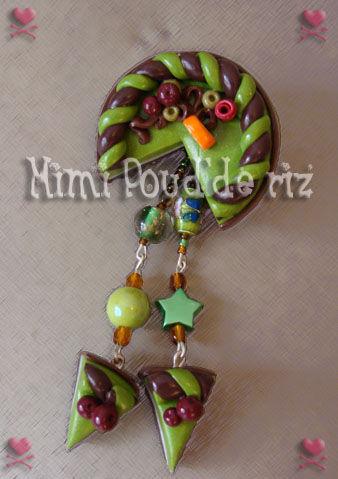 Broche pistache chocolat