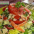 Salade de thon aux crudités.
