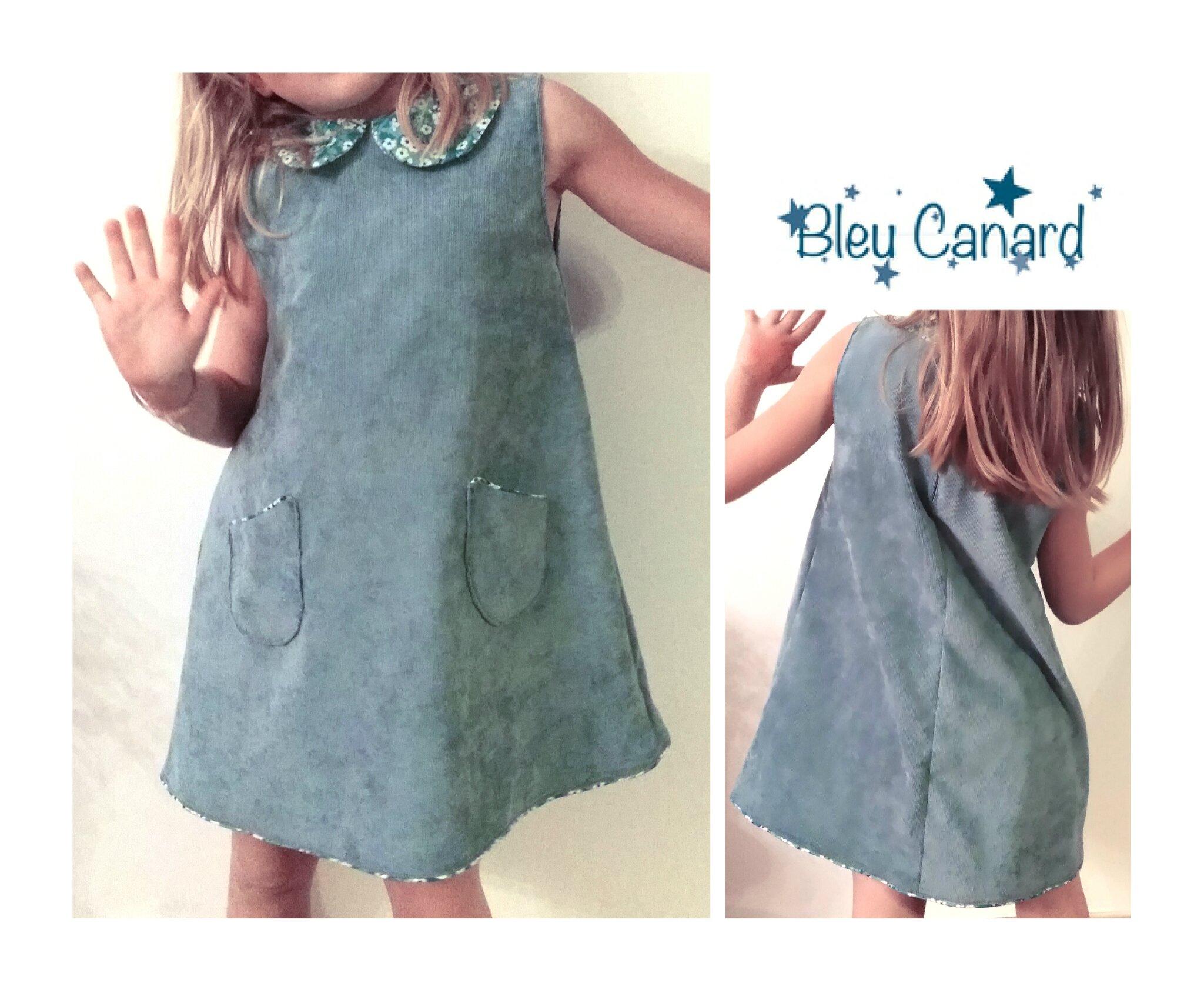 Petite robe en velours milleraies