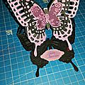 Carte chevalet papillons