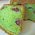 cake à la pistache et aux framboises