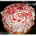 Rose <b>cake</b> fraise chantilly-mascarpone