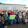 Les collégiens d'auffay se mobilisent pour apporter la lumière dans une école de sabcé