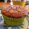 Muffins chocolat, noisette, orties