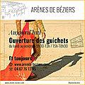 OUVERTURE DES GUICHETS DES <b>ARENES</b> de Béziers