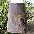 Jupe Velour de fleur/ Purplely