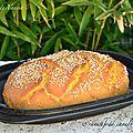 Pain cocotte à la farine de maïs et graines de sésame