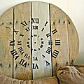 L'horloge <b>tonneau</b>: idée 1 en cours de réalisation