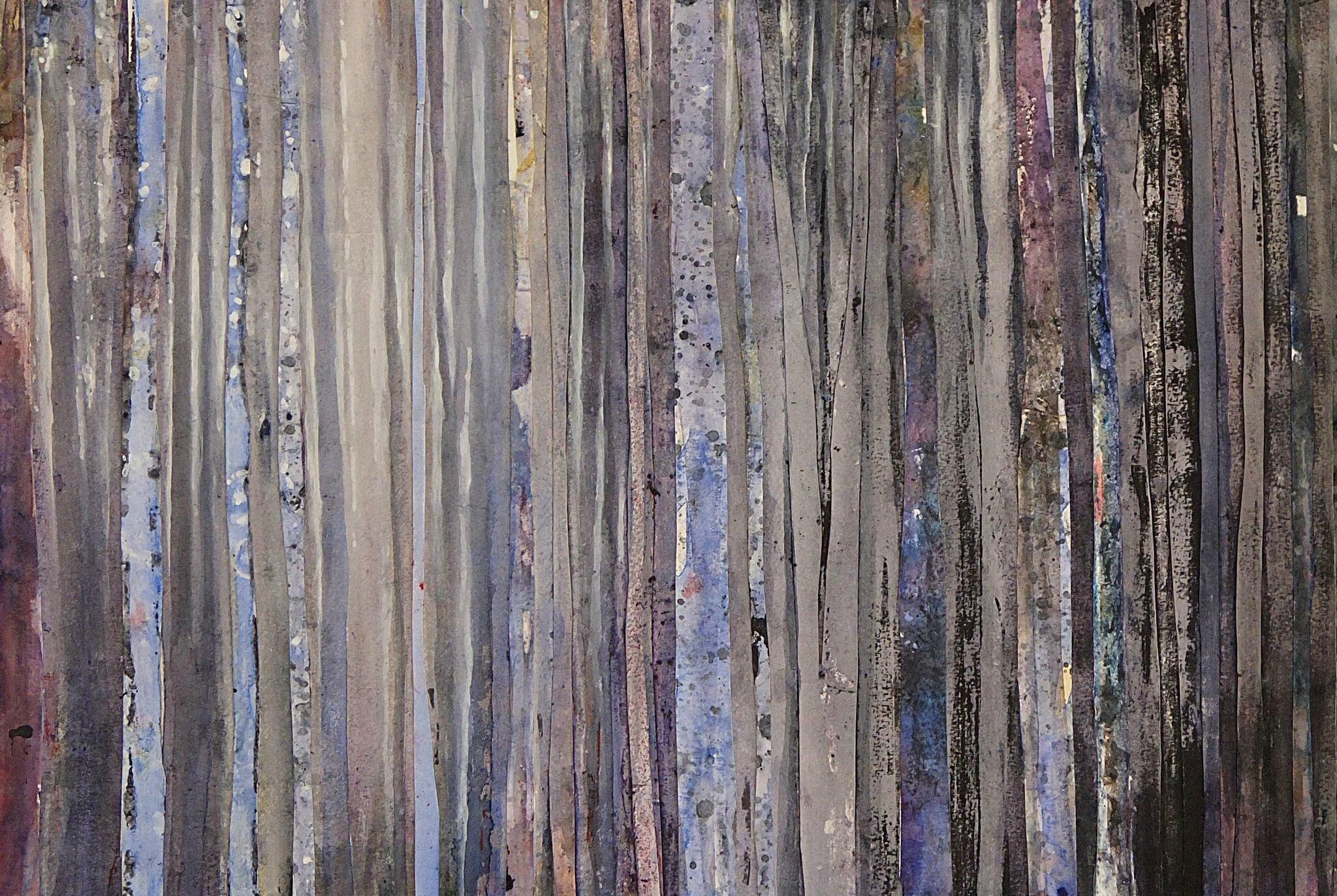 Forêt #60, avril 2016, techniques mixtes, 52 x 39 cm