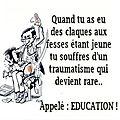 Les fessées et l'éducation