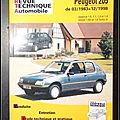 Revue Technique Automobile, Peugeot 205 de 03/1983 à 12/1998 : Essence 1.0, 1.1, 1.3 et 1.4 - Diesel 1.8 D et 1.8 <b>Turbo</b> D