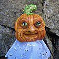 Jack o lantern : l'homme a la tete de citrouille