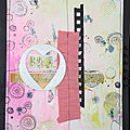 Art journal : avec des timbres