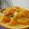 Soupe indienne végétarienne au potiron