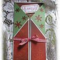 Très Belle Carte dans les tons de Noël