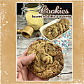 <b>Cookies</b> beurre noisette polenta chocolat & noisettes