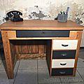 relooking bureau bois vintage