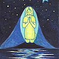 Pour Marc-Gisèle-Alice Peinture Gouache Ghislaine Letourneur - Méditation pour un ami décédé - Meditation for a dead friend