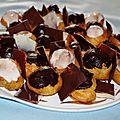 Choux vanille et chocolat