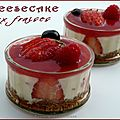 Petits Cheesecake aux fraises (sans oeuf et sans cuisson)