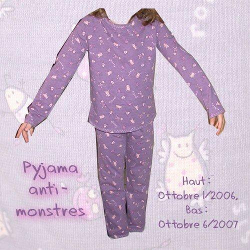Pyjama anti-monstres Ottobre 1/2006 et 6/2007