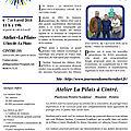 Journées européennes des métiers d'art - 7 et 8 avril 2018 - atelier de la pilais guichen