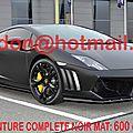<b>LAMBORGHINI</b> <b>GALLARDO</b>, covering brest, covering brest auto Total covering noir mat, peinture covering noir mat, covering jantes