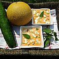 Soupe de melon et concombre! idée très rafraîchissante!