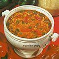 Soupe de poivrons et riz