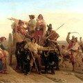 L'arrivee des moissonneurs dans le marais Pontins - Robert Leopold