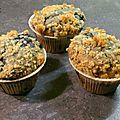 Blueberry Streusel Muffins (+ Election de LA recette de Muffins aux <b>Myrtilles</b> !)