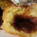 Muffin coeur caramel