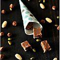 ☆ calendrier de l'avent : 1 cadeau gourmand par jour ☆ jour 23 : fudges chocolat au lait-caramel-amandes
