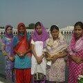 Patiala, visite d'un temple sikh avec des indiennes
