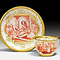 Hausmaler <b>Cup</b> <b>and</b> <b>Saucer</b>, Meissen, ca. 1724-1730. Painted in Augsburg by Abraham Seuter