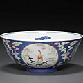 Four famille rose bowls. <b>Daoguang</b> <b>mark</b> and period