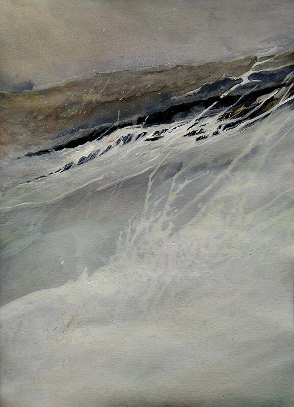 Sédition sur la côte sauvage 6, mars 2017, encre sur papier, 29 x 42 cm