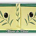 Panier Olives et cigales 39,5x26x20cms Détail