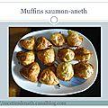 Muffins au saumon fumé et aneth