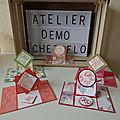 Atelier Démo chez moi, Premier projet, la carte à rabat, technique papier de soie