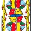 Vincent beckers et les cartes à l'envers dans un tirage de tarot