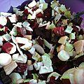 Salade autour de la betterave