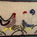 Tapis hookés/hooked rugs : quoi de neuf ?