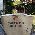 <b>Sac</b> de plage très grandes dimensions XXL - toile de <b>sac</b> à <b>café</b> recyclé et <b>sac</b> à riz recyclé