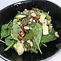 Salade d'asperges vertes, haricots, avocat